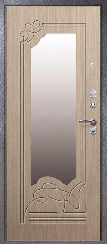 металлические двери мдф с зеркалом