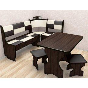 Кухонный уголок Домино с столом и двумя табуретами