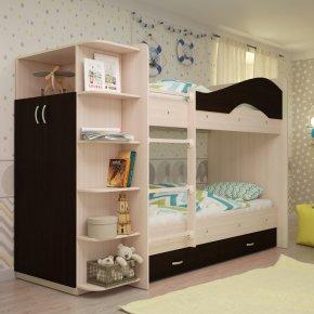 Кровать двухъярусная с шкафом Мая