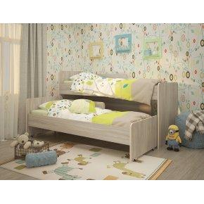 Кровать выкатная РАДУГА (Матрешка) без ящика, без бортиков 80х190, на щитах