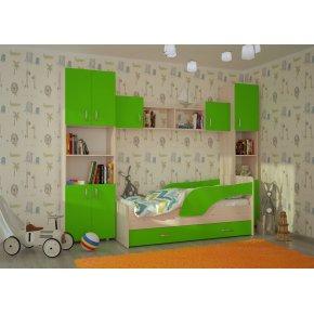 Детская стенка с кроватью с ящиком Кроха-2 Максимка