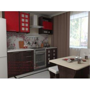Кухонный гарнитур Легенда-19 красный