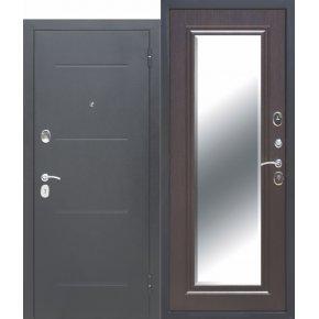Входные двери 7,5 см GARDA Серебро Зеркало Фацет ВЕНГЕ