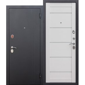 Входные двери 7,5 см НЬЮ-ЙОРК Царга Ясень белый эмаль