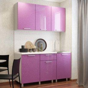 Кухонный гарнитур 1500 Сирень блестки