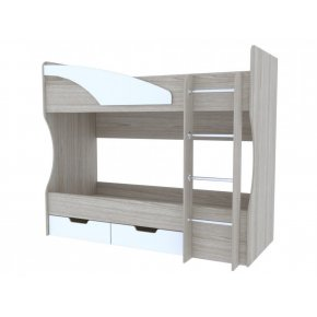 Кровать двухъярусная Антилия белый глянец