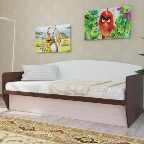 Кровать с мягкой спинкой Зефир-2