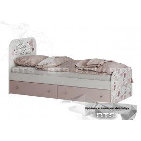 Кровать детская с ящиками Малибу